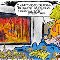 Claytoon of the Day: Trump's California Dreaming