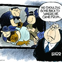 Claytoon of the Day: Barr Chokes Justice