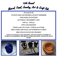 16th Annual Mineral, Fossil, Jewelry, Art & Crafts Sale