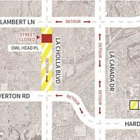La Cholla Boulevard Closing Between Lambert and Overton
