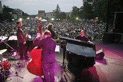 The Mingus Dynasty at the Iowa City Jazz Festival, in July 2006. - PAUL SABIN