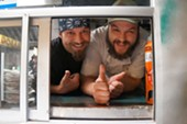 Food truck owners Brian Lee & Jacob Wahl - MARK WHITTAKER