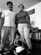 At home with Abe, wife Yadira and son Leo. - BRIAN SMITH