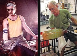 Artist Tom Philabaum won't be working with molten glass anymore, but his signature gallery at 711 S. Sixth Ave. remains open and will host a retrospective of his five decades of work. - COURTESY PHILABAUM GALLERY