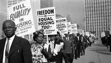 Protests and march in favor of civil rights and fair housing - COURTESY