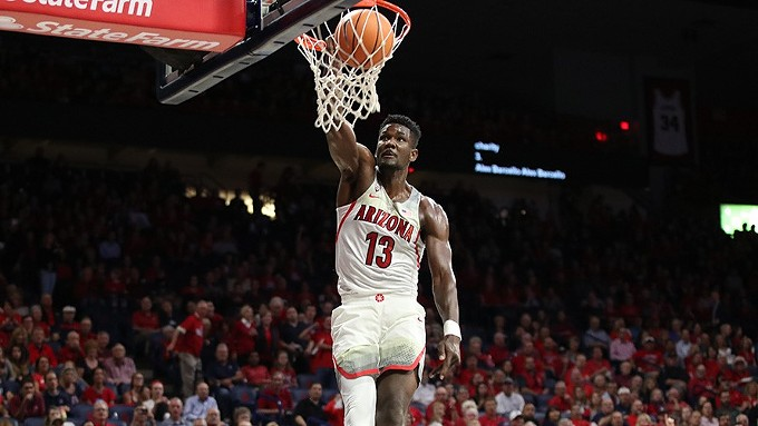 Freshman Deandre Ayton was named the Pac-12 Player of the Year on Monday. The 7-foot-1-inch center is averaging 19.9 points per game and 11.4 rebounds this season. - ARIZONA ATHLETICS