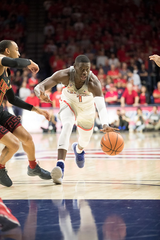 Arizona sophomore Rawle Alkins is averaging 13.4 points per game this season. - ARIZONA ATHLETICS