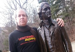 Unscrewed Theatre's Chris Seidman confers with the architect of Monticello. - FACEBOOK.COM/UNCSCREWEDTHEATRE