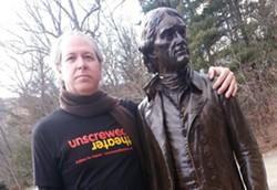 Unscrewed Theatre's Chris Seidman confers with the architect of Monticello. - FACEBOOK.COM/UNCSCREWEDTHEATRE