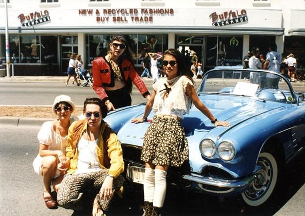 The Albuquerque Buffalo Exchange crew from the '90s. - BUFFALO EXCHANGE