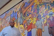 Jeff Gaskin in the Moremci Miners Local 616 Union Hall - DANYELLE KHMARA