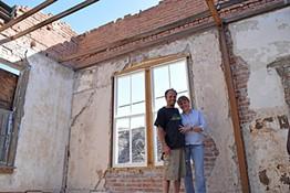 Karen Crump and Matt Frye on the top floor of the Old Central Hotel - DANYELLE KHMARA