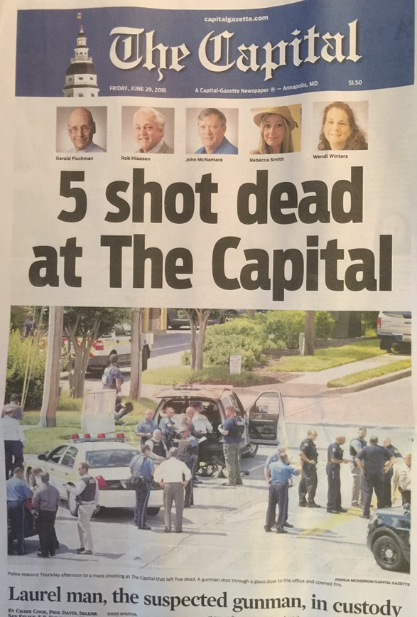 The Cover of today's The Capital Newspaper - COURTESY