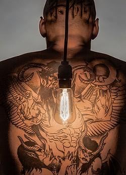 """Back Light"" 2018, - digital photo, 22 x 18 x 1"" - JIM HALL"