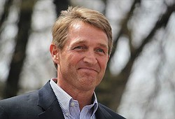 """Sen. Jeff Flake: """"When the American government offers an onslaught on unreality, it puts the whole world at risk. That is the lesson of Helsinki. That is the dose of reality that hit hard. We have indulged myths and fabrications, pretended that it wasn't so bad and our indulgence got us the capitulation in Helsinki."""" - COURTESY OF FLAKE.SENATE.GOV"""