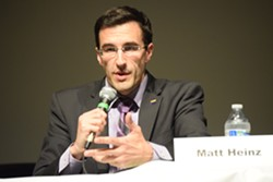 """Congressional candidate Matt Heinz at CD2 Democratic primary forum: """"I've treated gunshot wounds in the hospital...and to think that I'm in any way supportive of the NRA, which is a leading organization that, frankly, causes gunshot wounds to happen to people and some of my patients, is really ridiculous."""" - DANYELLE KHMARA"""