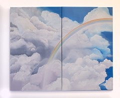 """The Monsoon,"" by Hughette Nordin & Trina Davis, oil on canvas - COURTESY"