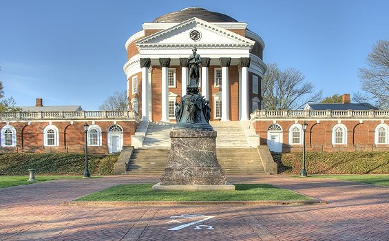 UNIVERSITY OF VIRGINIA ROTUNDA, COURTESY OF WIKIMEDIA