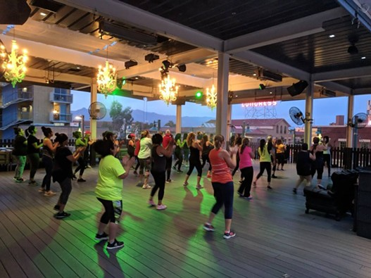 Zumba on the Rooftop. Aug. 31, 2018. - COURTESY PHOTO