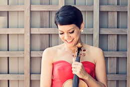 Ann Akiko Meyerswith her violin which she will be performing with at Beethoven Odyssey. - COURTESY