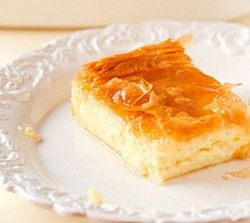 Galaktoboureko is a traditional rich and creamy Greek dessert drenched with a lemon and orange-infused syrup. - BROWN EYED BAKER