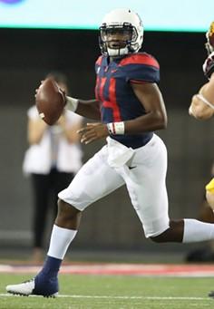 Arizona junior quarterback Khalil Tate against the University of Southern California on Saturday, Sept. 29. - ARIZONA ATHLETICS
