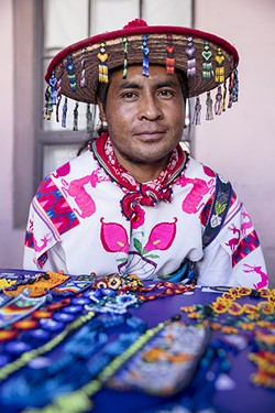 Enrique Ramirez Huichol, a folk artist at TMY - ALL PHOTOS COURTESY OF STEVEN MECKLER