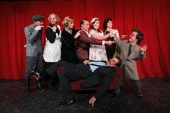 The cast of Death by Design, a play being performed at Tucson's Live Theatre Workshop. - COURTESY OF LIVE THEATRE WORKSHOP