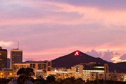 The Lighting of 'A' Mountain 5K Fun Run will serve as the official kickoff to Homecoming. - UA ALUMNI ASSOCIATION