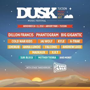 Dusk Music Festival will take place on Nov. 10 and 11. The festival will feature 20 plus artists including Dillion Francis, Phantogram and Big Gigantic. - THE RIALTO THEATRE