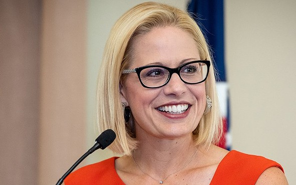 Arizona Sen.-elect Kyrsten Sinema was in Washington meeting with Democratic leaders Tuesday, one day after Republican Martha McSally conceded the Senate race, making Sinema the state's first female senator and the first Democrat to hold a U.S. Senate seat from the state since Dennis DeConcini stepped down in 1994. - PHOTO COURTESY U.S. HOUSE OF REPRESENTATIVES