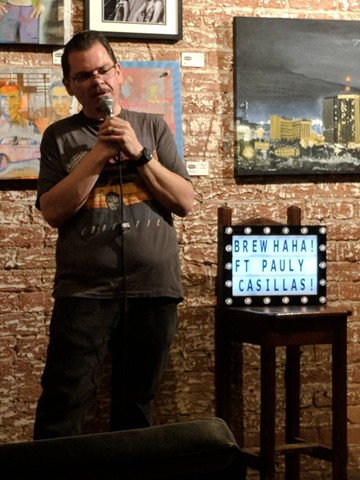 Pauly Casillas headlines the celebration of Brew Ha-Ha's third anniversary at Borderlands Brewery on Monday, Dec. 17. - BREW HA-HA COMEDY SHOWCASE AT BORDERLANDS ON FACEBOOK
