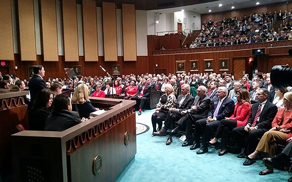 Gov. Doug Ducey delivered his State of the State address on Monday. - (PHOTO BY JUAN MAGAÑA/SPECIAL FOR ARIZONA PBS)