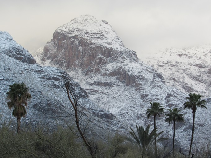 Snow covered peaks in the Catalina Mountains on Friday, Feb 22, 2019. - IAN GREEN