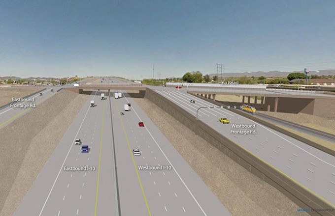 Illustration of the finished Ina Road interchanged, set for completion later this year. - COURTESY ARIZONA DEPARTMENT OF TRANSPORTATION