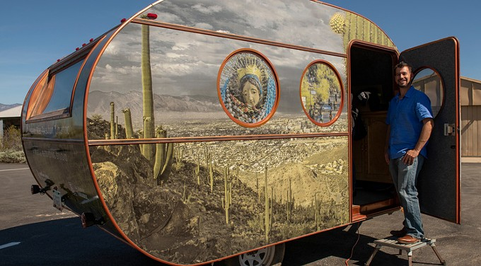 The Cuéntame Más: Tales From Tumamoc mobile recording studio is open to the public on select days through April 7. - PHOTO BY BILL HATCHER, COURTESY UA NEWS