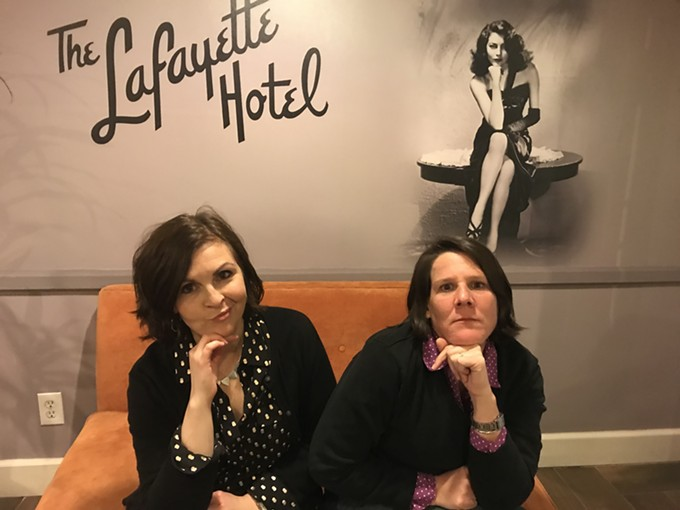 The improv team JaxN Reed (Stacy Reed, Jacque Arend) represents Phoenix's Torch Theatre in The Best Show Period, the finale of the all-female Cactus Flower Comedy Festival March 28 through 30 at the TIM Comedy Theatre. - MINDY KEELING