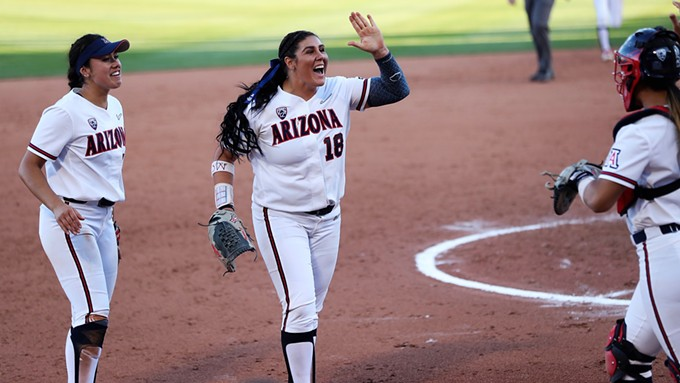 Senior pitcher Taylor McQuillin threw two shutouts during last weekend's sweep by the Arizona Wildcats of in-state rival, Arizona State University. - ARIZONA ATHLETICS