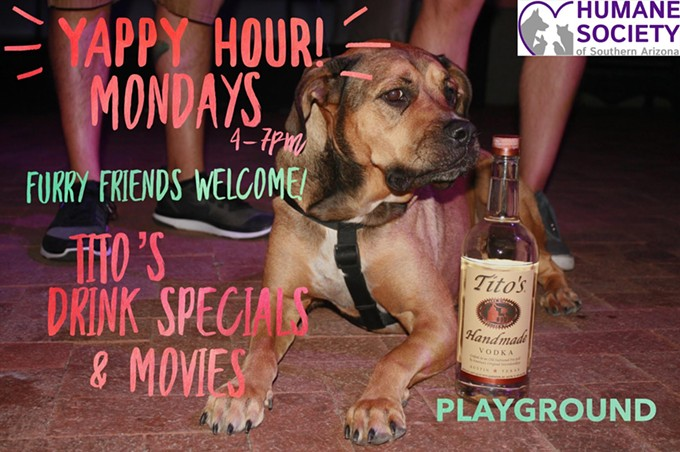 COURTESY OF YAPPY HOUR MONDAYS WITH TITO'S VODKA AT PLAYGROUND BAR & LOUNGE FACEBOOK EVENT PAGE