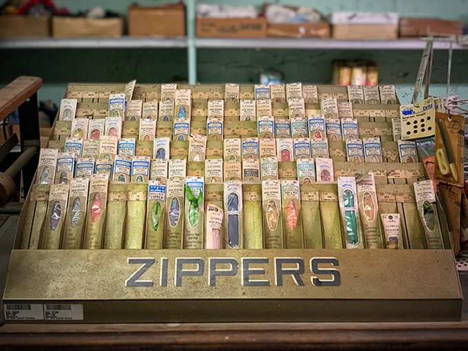 Zipper collection inside Giorsetti's in Winkelman. - BRIAN SMITH