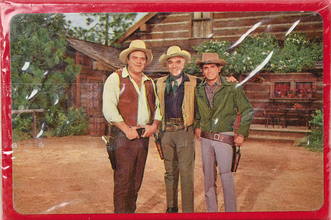 A deck of Bonanza playing cards gifted to Shelton by Lorne Greene, available for bidding. - RR AUCTION
