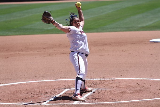 Taylor McQuillin allowed three runs in seven innings of work against the UCLA Bruins on Thursday, May 9. - CHRISTOPHER BOAN