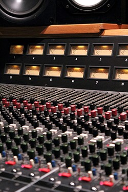 The soundboard at Jim Brady Recording Studios. - JEFF GARDNER
