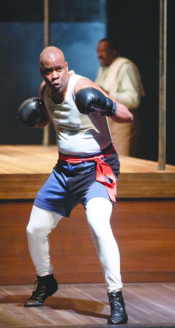 Bechir Sylvain stars as a boxer during the days of Jim Crow in the ATC production The Royale. - TIM FULLER