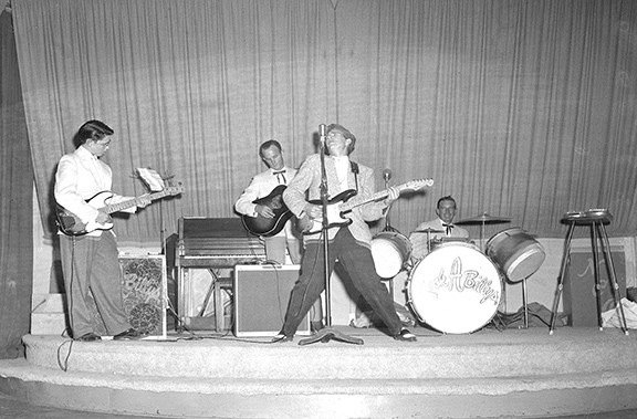The Rock-A-Billys, David Lawrence (far left) and Gary Paxton (center). - COURTESY PHOTO
