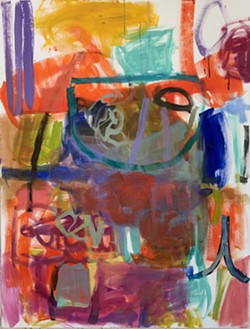 Joanne Kerrihard's abstract work is on display at Davis Dominguez Gallery through Feb. 29.