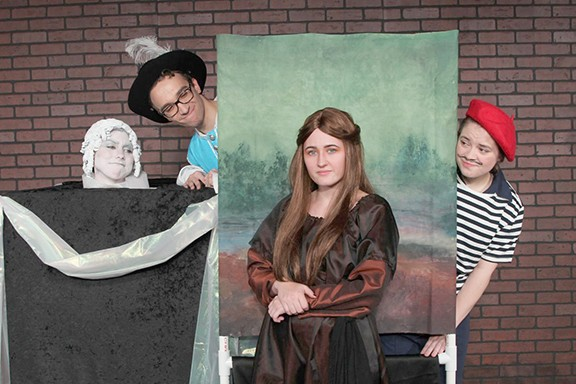 "Live Theatre Workshop's ""Mona Lisa on the Loose"" brings the art of The Louvre to life. - COURTESY PHOTO"