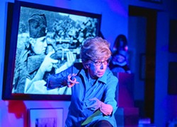 """Susan Claassen as Dr. Ruth K. Westheimer in """"Becoming Dr. Ruth,"""" now onstage at Invisible Theatre. - TIM FULLER"""