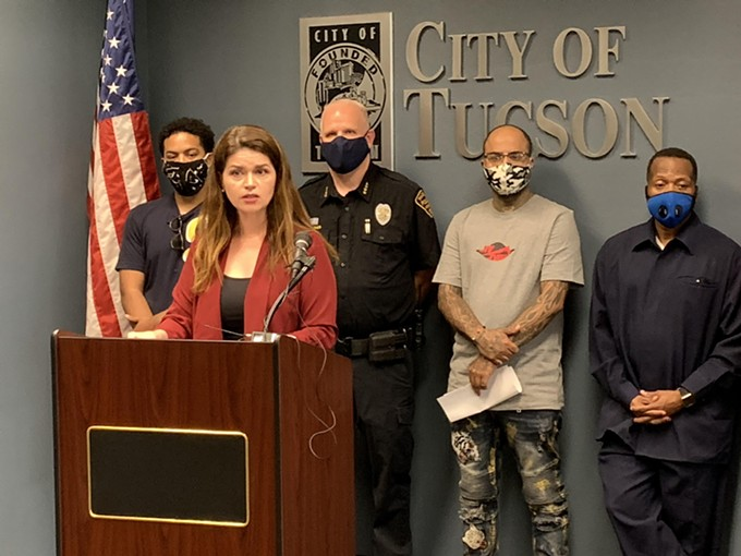 """""""I'm going to implore Tucsonans, those that what to effectively make a change to systematic racism in our city, to stay home tonight. Stay home tonight,"""" Romero said. """"Come on Monday, come to the Dunbar...we will be unified in our voice against violence."""" - AUSTIN COUNTS"""