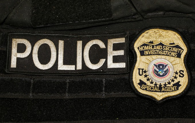 Closeup of a bulletproof vest worn by Homeland Security Investigations agents during the gunfight in Ahwatukee Foothills on April 11. (Crime scene photo: Phoenix Police Department)